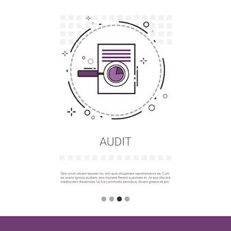 Analisi dei dati di audit banner grafico di report grafico finanziario