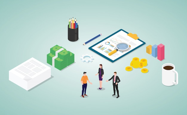 Analisi del rapporto di consultazione finanziaria con persone e documenti del team