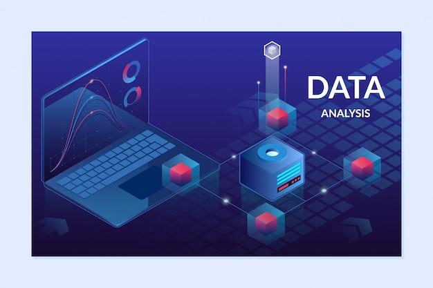 Analitica aziendale di concetto di grafici finanziari di dati