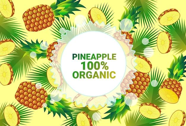 Ananas frutta colorata cerchio copia spazio organico