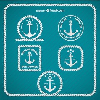 Ancoraggio logo modello marine