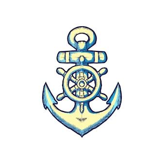 Ancoraggio logo vettoriale