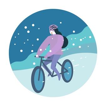 Andare in bicicletta d'inverno