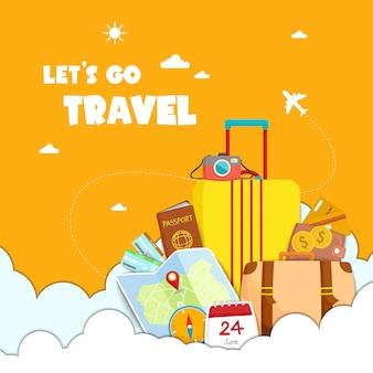 Andiamo illustrazione di viaggio