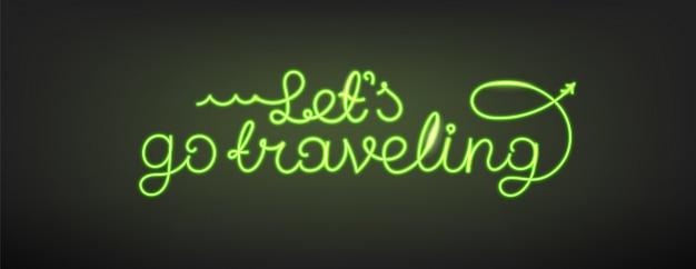 Andiamo viaggiando, lettering design
