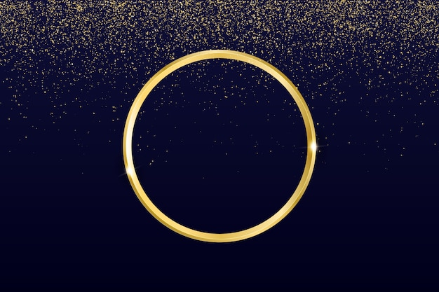 Anello d'oro sullo sfondo