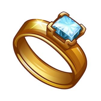 Anello in oro con diamante