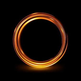 Anello luminoso elegante cerchio incandescente astratto