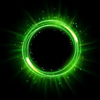 Anello luminoso illuminato astratto cerchio incandescente