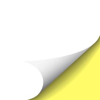 Angolo arricciato di carta su sfondo trasparente con le ombre.