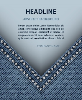 Angolo jeans con striscione di carta
