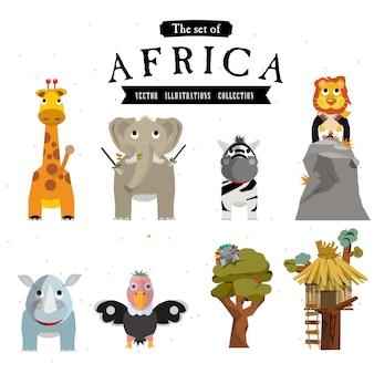 Animale africano con albero