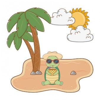 Animale carino godendo le vacanze estive