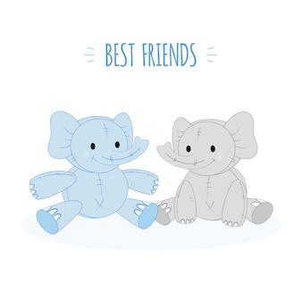 Animale carino personaggi dei cartoni animati. illustrazione vettoriale