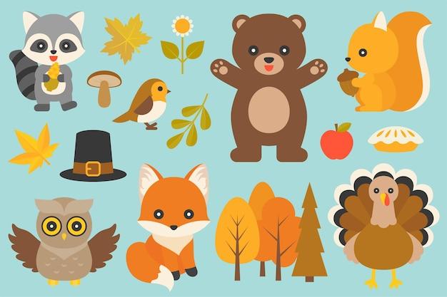 Animale selvatico ed elementi