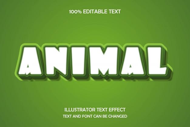 Animale, stile di ombra moderno modificabile effetto testo 3d