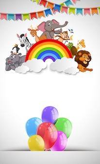 Animale su carta di celebrazione