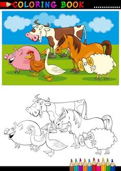 Animali da fattoria e da allevamento per la colorazione