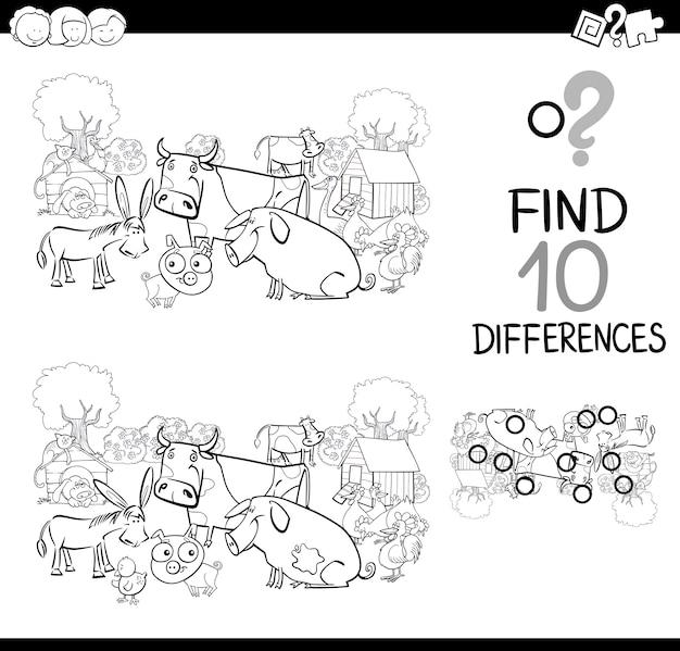 Animali da fattoria gioco per colorare