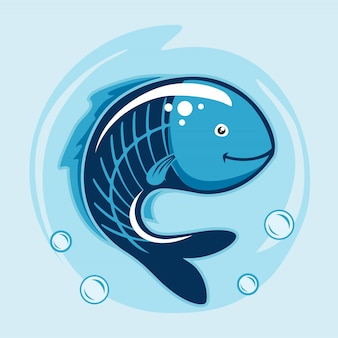 Animali dei cartoni animati di pesce a raggi x