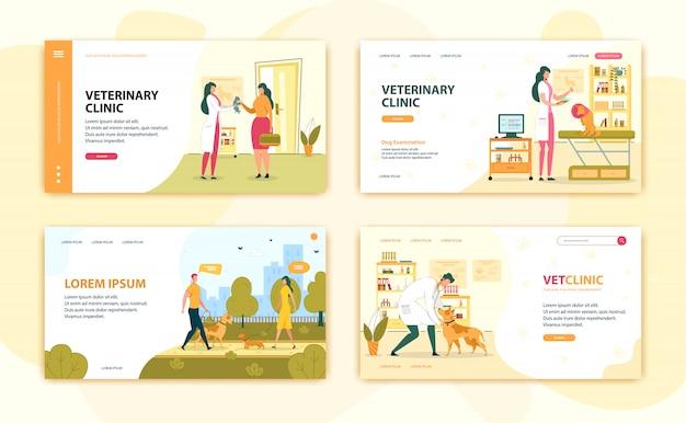 Animali trattati dai veterinari nella clinica veterinaria.