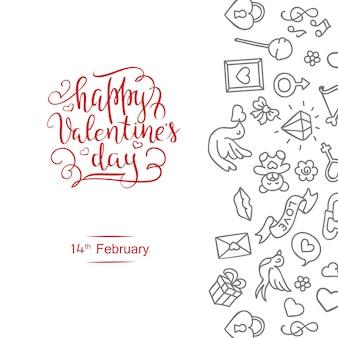 Annata a mano st. carta di san valentino - con calligrafia fatta a mano