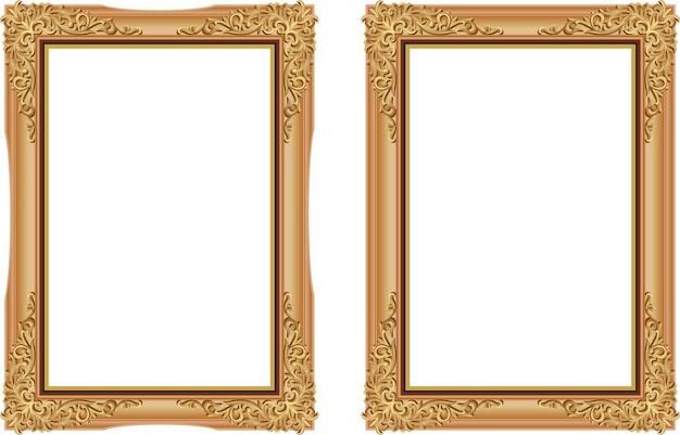 Annata decorativa della struttura di legno della foto con la linea d'angolo della tailandia floreale per l'immagine