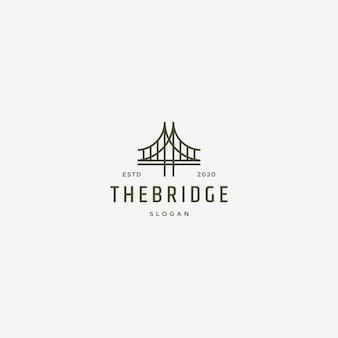 Annata dell'illustrazione di logo del ponte retro