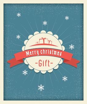 Annata della cartolina di regalo di buon natale