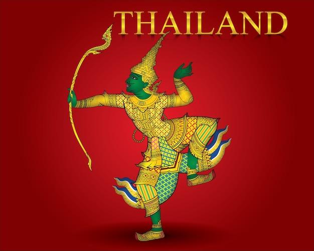 Annata della tailandia della freccia di ramayana