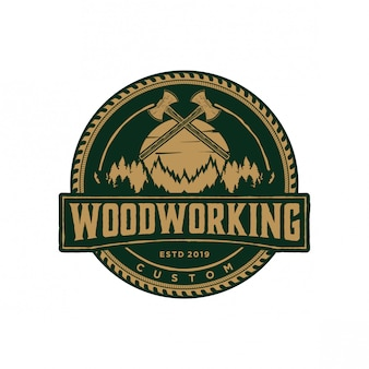 Annata di logo di falegnameria