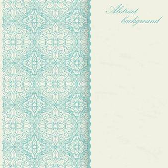 Annata di progettazione del fondo della mandala con il fiore asiatico, arabo