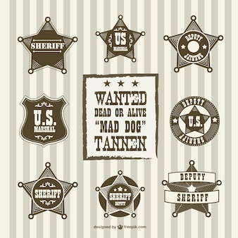 Annata vice sceriffo badge