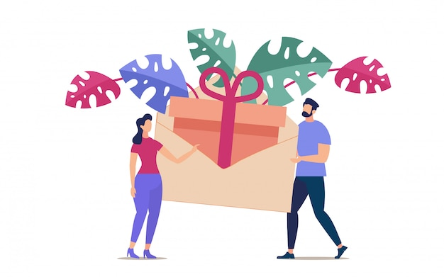 Anniversary surprise, salary bonus, holiday invitation delivery