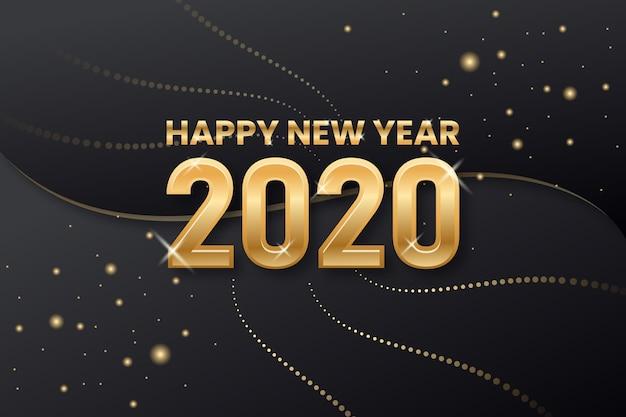 Anno nuovo sfondo dorato