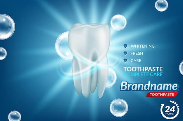 Annunci di dentifricio sbiancante