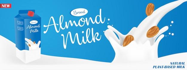 Annunci di latte di mandorle