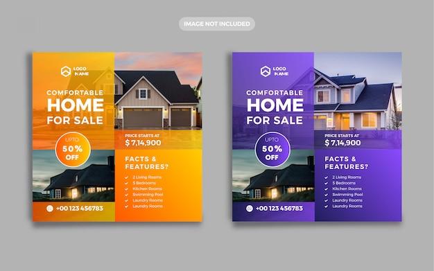 Annunci immobiliari banner social media post