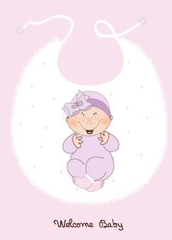 Annuncio di baby girl shower
