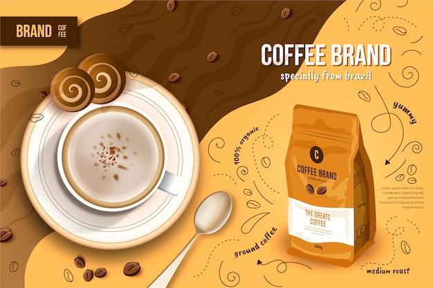 Annuncio di bevande al caffè