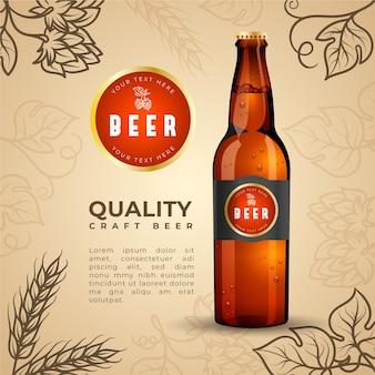 Annuncio di birra con illustrazione vintage