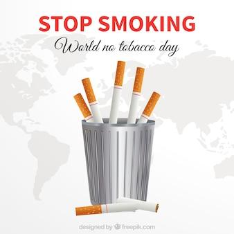 Anti fumo day background