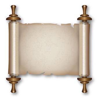 Antica pergamena con manici