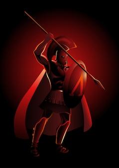 Antico guerriero greco
