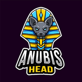Anubis head esport logo template