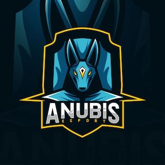 Anubis mascot logo esport template