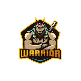 Anubis warrior illustration premium