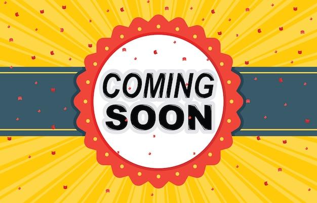 Apertura prossimamente banner banner badge design element