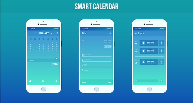 App calendario intelligente ui / ux design
