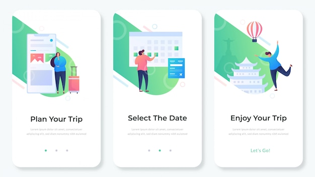 App del sito web di viaggio